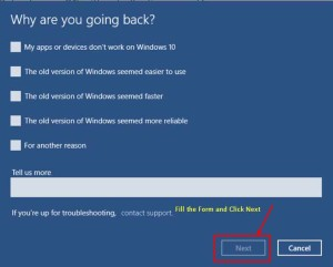 downgrade windows 10 to windows 7/8/XP