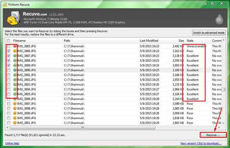 Color best file recovery for PC/laptop