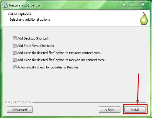 Install recuva best file recovery for windows