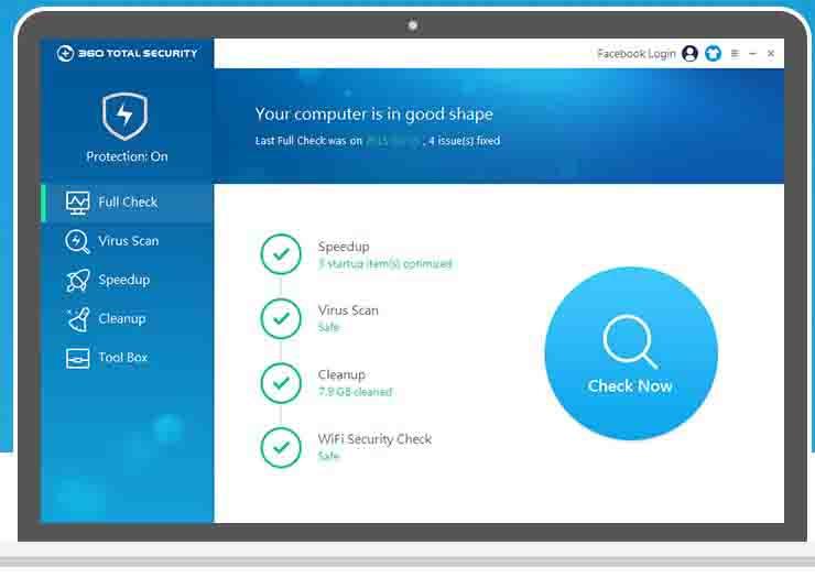 360 sécurité totale pour Windows 10