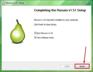 Finish Recuva best file recovery