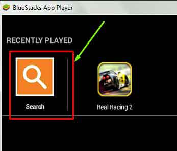 Search-in-Bluestacks