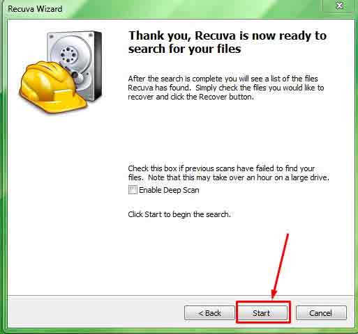 Start option file recovery for laptop/pc