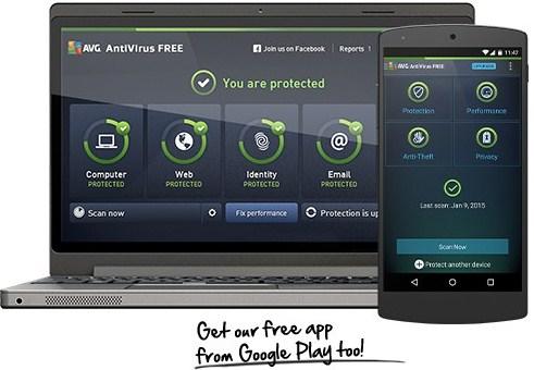 AVG free anti virus pour Windows 10 photo