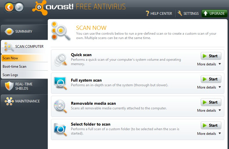 Avast anti virus pour Windows 10