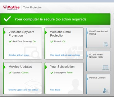McAfee Free Antivirus pour Windows 10