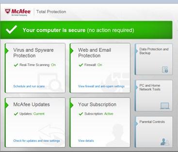 McAfee Free Antivirus pour Windows 10