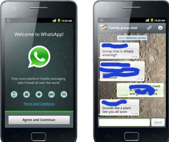 whatsapp samsung ace gt-s5830