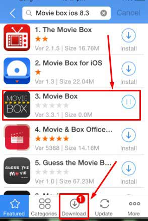 Moviebox for iOS 9 /9.1/9.2/8.4/8.3 iphone and ipad download using vshare