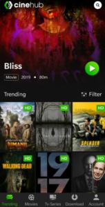 CineHub App UI - Movies & TV Shows